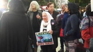 Nora Cortiñas en la marcha.