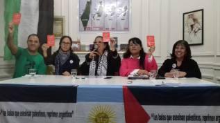 Conferencia de prensa en Buenos Aires tras la victoria.