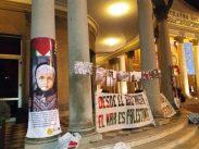 Intervención en la fachada del Teatro Solís.