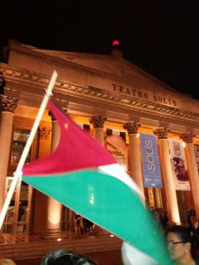 Repudio a la gala por los 70 años de Israel en Montevideo.
