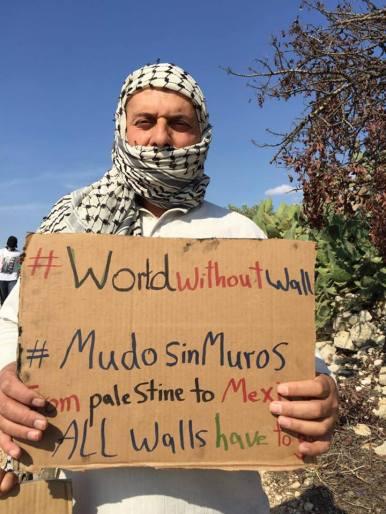 Manifestante en Nilín, Cisjordania