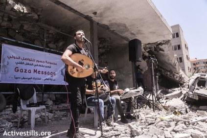 Festival alternativo en Gaza...