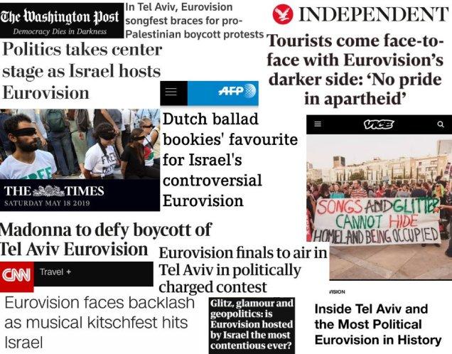 Repercusiones en grandes medios del boicot a Eurovisión.