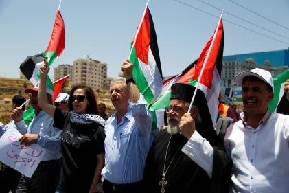 Protesta en Ramala.
