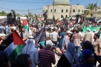 Protesta en Gaza.