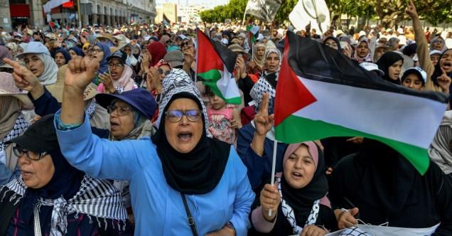 Protesta en Rabat, Marruecos.