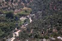 La zona del manantial Ein Bubin donde ocurrió la explosión (Quds News Network).