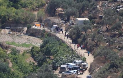 La zona del manantial donde ocurrió la explosión (Quds News Network).
