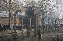 Campo de Auschwitz (Polonia) en la conmemoración del 75° aniversario de su liberación. (Czarek Sokolowski, AP).