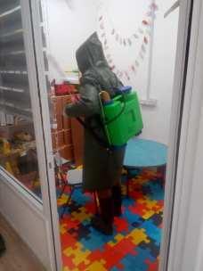 Esterilización del centro de rehabilitación de menores con discapacidad.