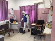 Esterilización del centro de salud de Aida.
