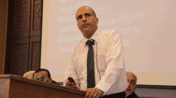 El Dr. Ayman Abu Al-Ouf, uno de los asesinados de su familia el 17/5.
