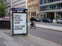 """""""Israel está matando niños de nuevo. Disfruten su fin de semana""""."""