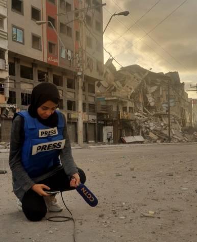 Nur Harazin, reportera y corresponsal de medios internacionales.