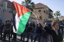 Palestinos protestan en Ramla contra la violencia en Jerusalén. 10/5/21 (Yossi Aloni/Flash90).