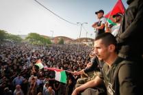 Funeral de Muhammad Kiwan (17), asesinado por la policía israelí en Umm al-Fahm, Israel. 20/5/21. (Jamal Awad/Flash90)