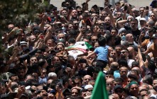 Funeral de Nizar Banat, asesinado por la Autoridad Palestina. 24/6/21, Ramala. (Flash 90).