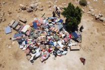 Foto aérea de la demolición de la comunidad de Khirbet Humsa en el Valle del Jordán, el 8/7/21 (Oren Ziv).