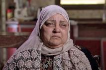 Amal, la madre de Halabi, en la ciudad de Gaza.