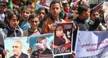 Protestas en Gaza exigiendo la libertad de Halabi.
