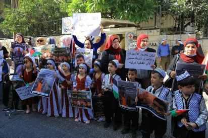 Manifestación en apoyo a los presos fugados en Tulkarem (noroeste de Cisjordania).